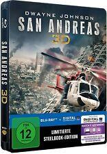 SAN ANDREAS (Dwayne Johnson) Blu-ray 3D + Blu-ray Disc, Steelbook NEU+OVP