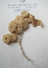 Beautiful Vintage Antique Multi Shade Cream Velvet Millinery Hat Flower UNUSED