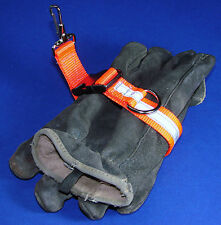 Sav-A-Jake Firefighter Glove Strap Quick Release Orange w/3M Silver Reflective