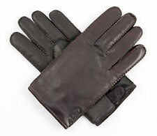Men's BRIONI Italy Ox Blood Genuine Leather Cashmere Winter Gloves S M 8 NWT!