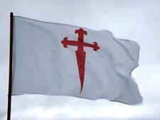 Bandera Cruz de Santiago 150x90cm / Cross of Saint James of Compostela Flag 5x3