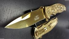 GOLD SPRING ASSISTED KNIFE Beautiful Women Pocket Knife NEW in Box GREAT GIFT