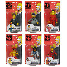 """THE SIMPSONS - 25th Anniversary 5"""" Series 1 Action Figure Set (6) by NECA #NEW"""