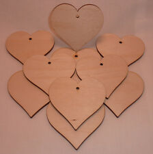 Wood Heart craft shape ply wooden blanks plaque card making  pyrography 10cm LG