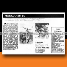 ★ HONDA 125 SL ★ 1977 Essai Moto / Original Road Test #c236