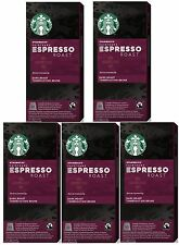Starbucks Nespresso Espresso Roast Coffee Compatible 50 Pods, 5 x 10 Pods