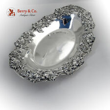 Poppy Bread Tray Art Nouveau Redlich Sterling Silver 1900 Applied Decorations