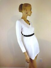 LIMI FEU WHITE V-NECK CUT OUT OPEN BACK SUSPENDERS TOP-TUNIC SIZE S
