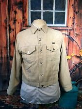 1960`S WRANGLER BLUE BELL CREAM NEEDLE CORDUROY BUTTON UP WESTERN JACKET MEDIUM