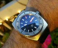 H20 ORCA TURBO VINTAGE CASE 2000M DIVER AUTOMATIC WATCH MINT WITH BOX