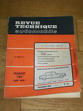 REVUE TECHNIQUE AUTOMOBILE n° 271 Nov 1968 PEUGEOT 204