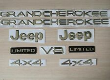 Jeep Grand Cherokee Jeep 4X4 Limited Emblem Badge Logo Nameplate Chrome