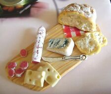 1 dolls house miniatures food salumi tray maison de poupée Dolls house fimo^^