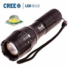 S&O Lights E17 Cree XM-LT6 Zoomable LED Flashlight | Adjustable White Beam | ...