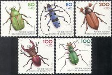Germany 1993 Youth Welfare Fund/Endangered Beetles/Insects/Nature 5v set n42098