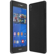 Skinomi Carbon Fiber Black Skin+Clear Screen Protector for Sony Xperia Z3V