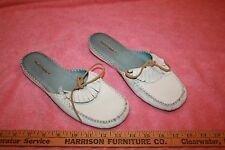 Barely Used Hush Puppies Leather Ladies Sandals Slip-ons 7.5 M
