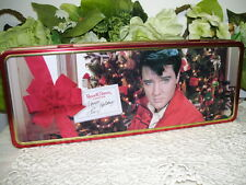TIN BOX ELVIS PRESLEY HINGED LID 1998 RUSSELL STOVER CANDIES
