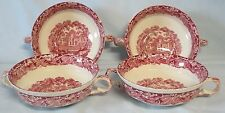 Mason's Pink Vista Cream Soup Bowl no Saucer, Set of 4