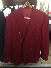 Faconnable XL Overcoat Blazer Red Wool Vintage