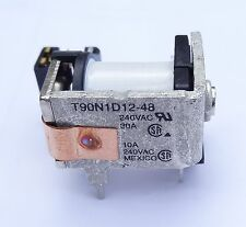 1 pc Open Frame Relay 48V coil, 30A contact, SPST, By TE,  P/N T90N1D12-48