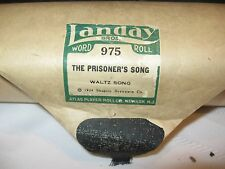 Vintage Player Piano Roll - LANDAY BROS. - 975 - THE PRISIONER'S SONG - ATLAS CO