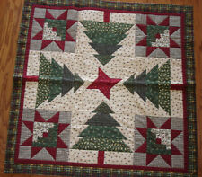 INSTRUCTIONS ONLY~LOG CABINS IN THE TREES QUILT PATTERN CHRISTMAS TABLE TOPPER