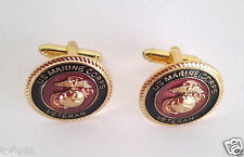 US MARINE CORPS VETERAN CUFF LINKS Military Veteran 14459-C HO