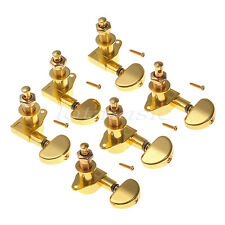 Set 3L3R Acoustic Electric Guitar Tuning Peg Tuners Machine Heads Gold Keys Pegs