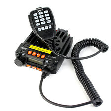 Black KT-8900 Mobile Vehicle Ham Radio UHF+VHF 25W 200CH for Bus Taxi Cars TOT