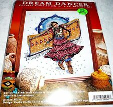 """Design Works Counted Cross Stitch Kit Indian DREAM DANCER 14"""" x 18"""""""