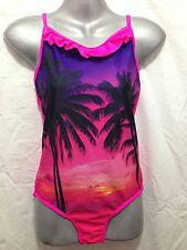 BNWT Girls Sz 7 Miss Understood Brand Pretty Pink One Piece Swim Suit Bathers