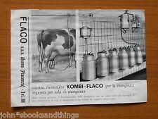 1960 MUNGITRICE MECCANICA KOMBI FLACO MACCHINA AGRICOLA EPOCA MUNGITURA FATTORIA