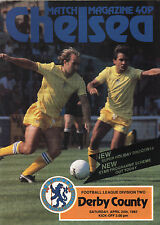 1981/82 Chelsea v Derby County, Division 2, PERFECT CONDITION