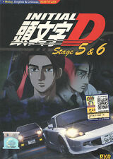DVD Anime Initial D Stage 5 & 6 Complete Tv Series English Subtitle ALL Region
