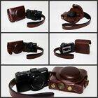 Coffee leather case bag to Sony DSC- RX100M III RX100M3 DSCRX100MIII camera