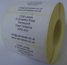 2,000 - 50 x 25mm Personalised Return Address Labels - Supplied On A Roll