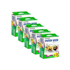 100 Prints Fuji Instax Wide 210 Instant Color Twin Pack Print Film Exp.11/2016