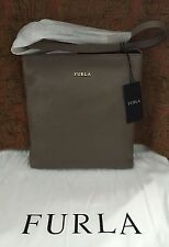 NWT FURLA Julia Small Chain Leather Crossbody Shoulder Bag Dain $318