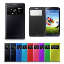 Custodia Flip Cover S VIEW Libro Slim Per Samsung Galaxy S4 I9500 + Pellicola