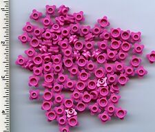 LEGO x 100 Dark Pink Plate, Round 1 x 1 with Flower Edge 4 Knobs Plant Stem