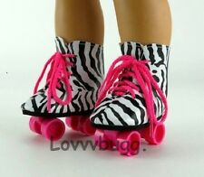 """Zebra Roller Skates for 18"""" American Girl Doll Shoes Clothes Best Selection!"""