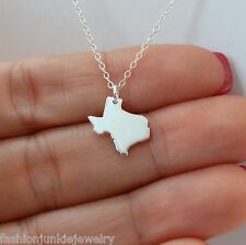 Texas State Charm Necklace - 925 Sterling Silver - US State Texas Charms NEW