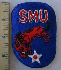 Vintage SMU SOUTHERN METHODIST UNIVERSITY DALLAS TEXAS AIR FORCE ROTC PATCH