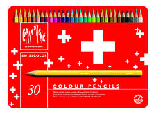 CARAN D'ACHE SWISSCOLOR COLOURED PENCILS - Tin of 40 Assorted Colours