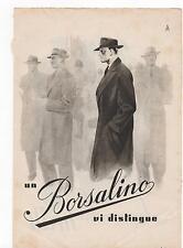 Pubblicità vintage BORSALINO CAPPELLI old advert reklame werbung publicitè B6