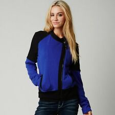 $79 Fox Racing Women's Bold Fleece Jacket Deep Cobalt Size S