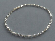 """NEW ITALIAN STERLING SILVER -10"""" ANKLE BRACELET- ANCHOR LINK 080-ITALY 925"""