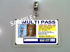 Fifth Element ID Badge Multi Pass LEELOO DALLAS costume prop Cosplay Halloween
