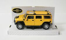 2003 Hummer H2 Diecast Model Car SUV - Yellow Maisto - 1:27 Scale - Special Ed.